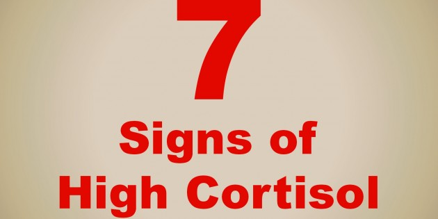 7 signs of high cortsol